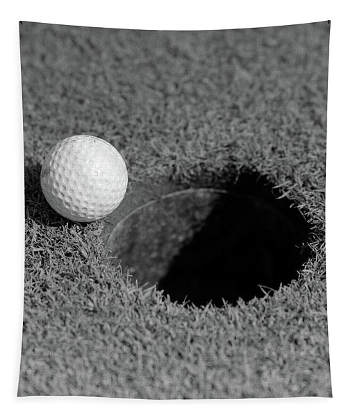 1950s Close-up Of Golf Ball On Green Tapestry