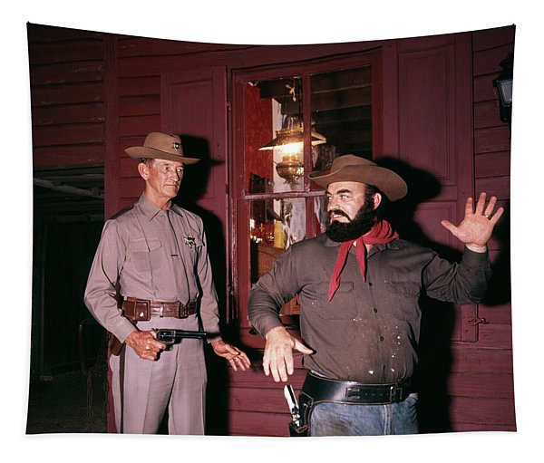 1960s 1970s Western Sheriff Arrests Tapestry
