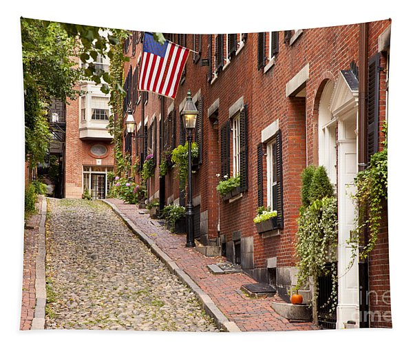 Acorn Street Boston Tapestry