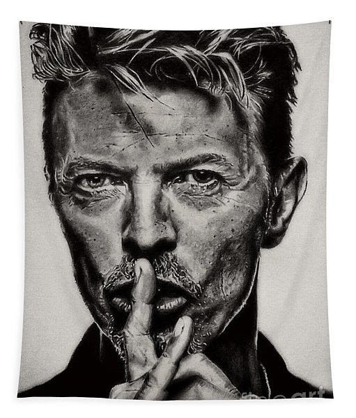 David Bowie - Pencil Abstract Tapestry
