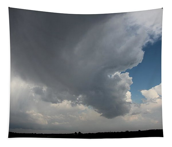 Tapestry featuring the photograph More Strong Cells Moving Over South Central Nebraska by NebraskaSC