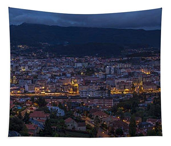 Pontevedra Panorama From A Caeira Tapestry