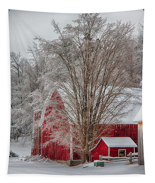 Red Vermont Barn Tapestry