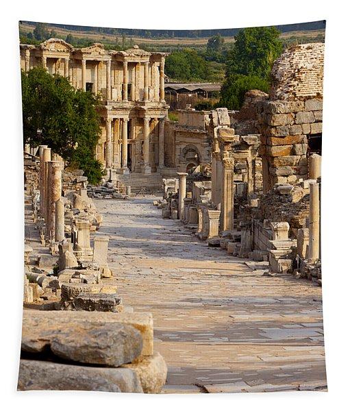 Ruins Of Ephesus Tapestry