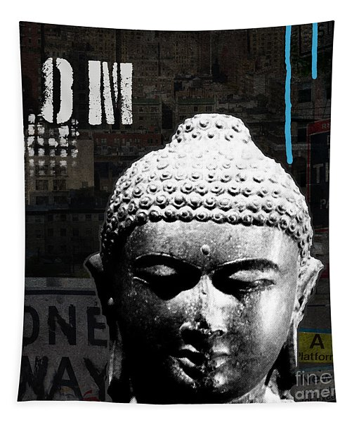 Urban Buddha  Tapestry