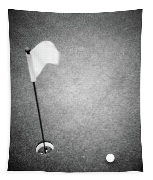 2000s Golf Ball On Putting Green Tapestry