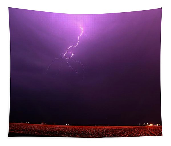 Tapestry featuring the photograph Our 1st Severe Thunderstorms In South Central Nebraska by NebraskaSC