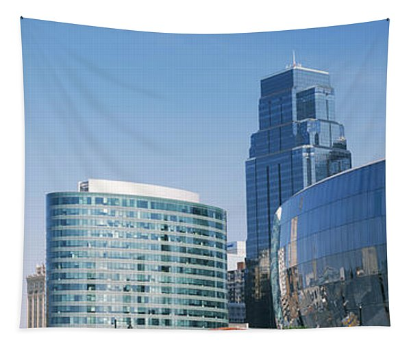 Low Angle View Of Downtown Skyline Tapestry
