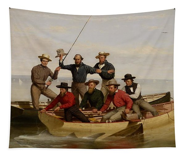 A Fishing Party Off Long Island Tapestry
