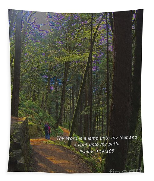 A Light Unto My Path Tapestry