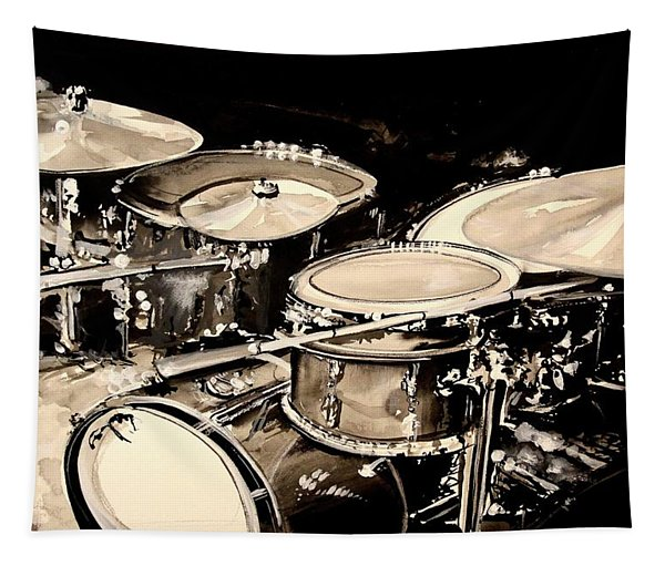 Abstract Drum Set Tapestry