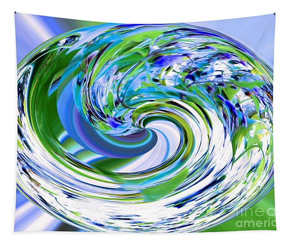 Abstract Reflections Digital Art #3 Tapestry