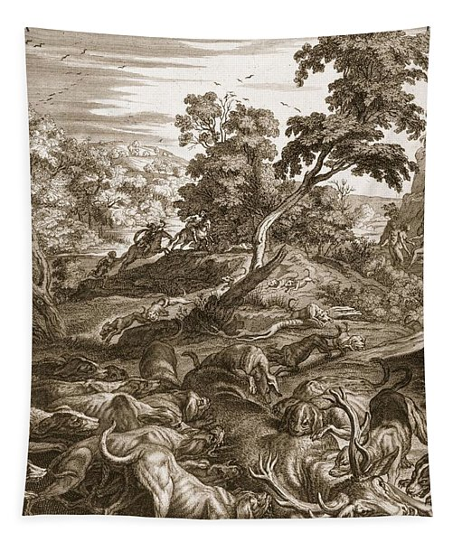 Actaeon Turned Into A Stag And Devoured Tapestry
