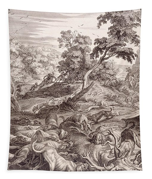 Actaeon Turned Into A Stag And Devoured By His Hounds Tapestry