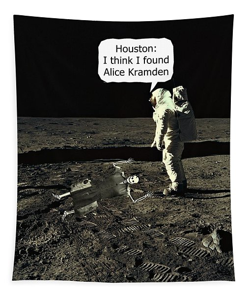 Alice Kramden On The Moon Tapestry
