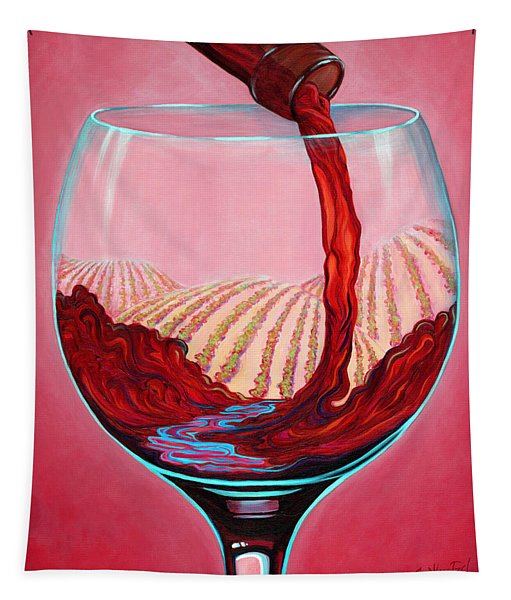 ...and Let There Be Wine Tapestry