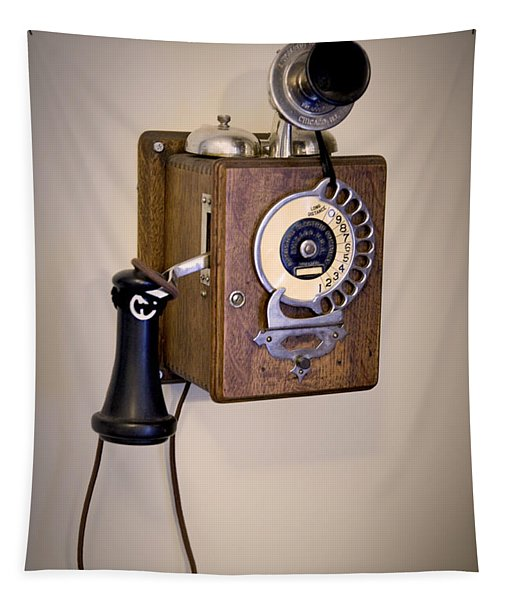 Antique Telephone Tapestry