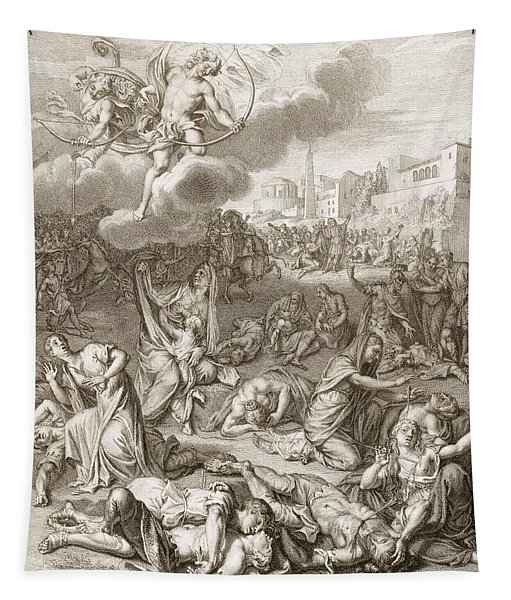 Apollo And Diana Kill Niobe's Children Tapestry