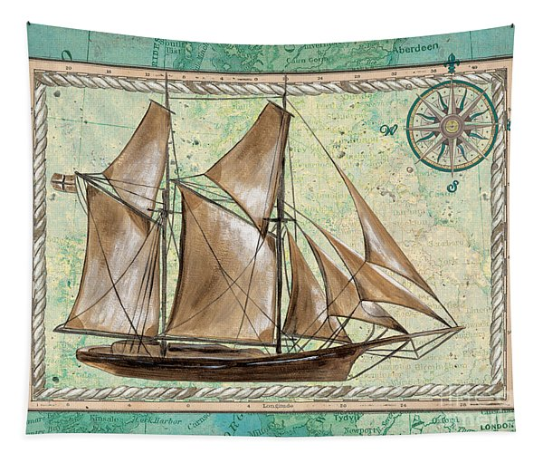 Aqua Maritime 2 Tapestry