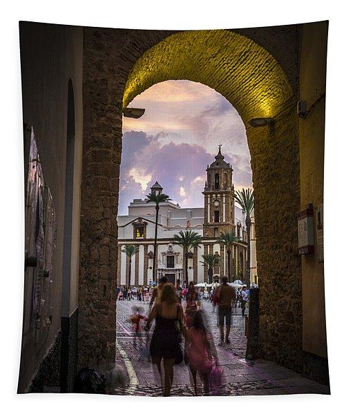 Arc Of The Rose Cadiz Spain Tapestry