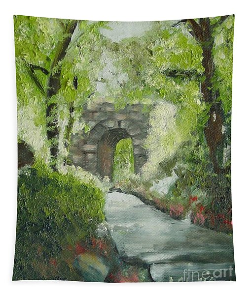 Archway In Central Park Tapestry