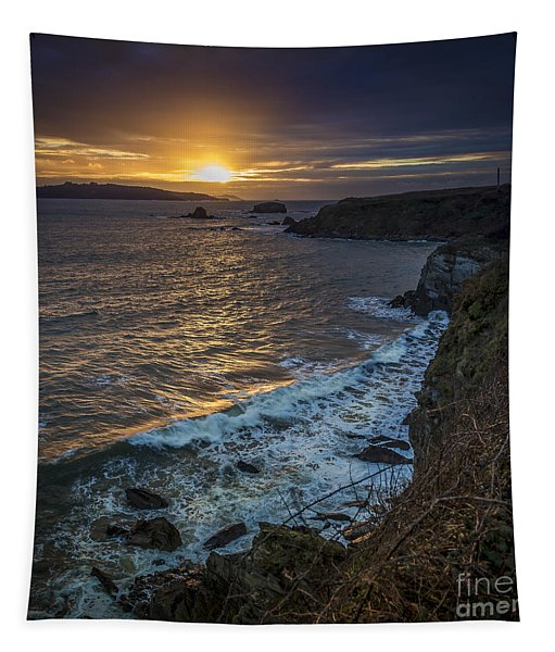 Ares Estuary Mouth Galicia Spain Tapestry