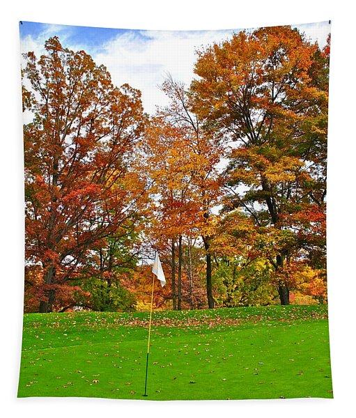 Autumn Golf Tapestry