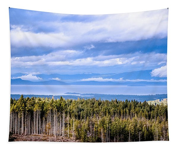 Johnstone Strait High Elevation View Tapestry