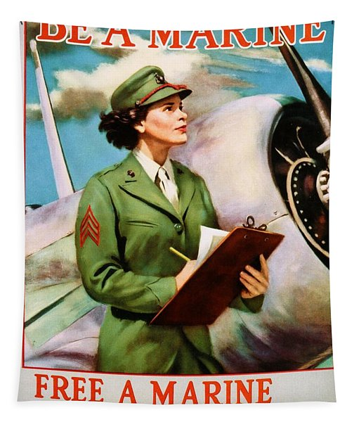 Be A Marine - Free A Marine To Fight Tapestry