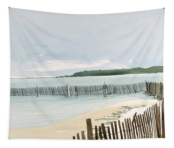 Beach Fence Tapestry