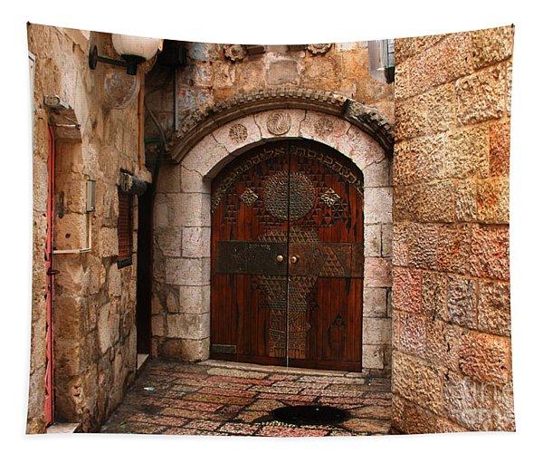Door In Jerusalem Tapestry