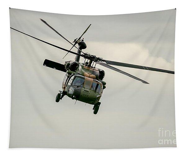 Black Hawk Swoops Tapestry