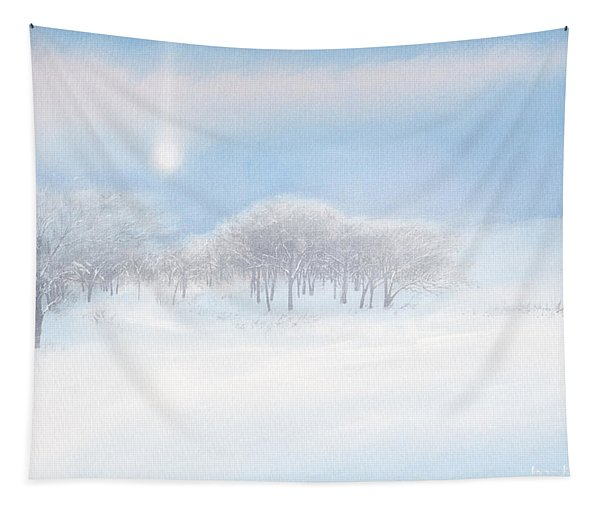 Blizzard Coming Tapestry