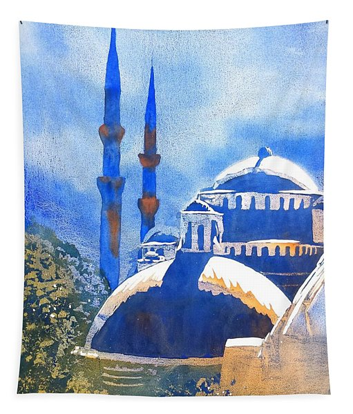 Blue Mosque In Blues Tapestry