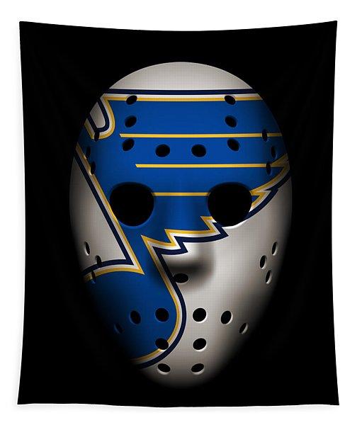 Blues Goalie Mask Tapestry