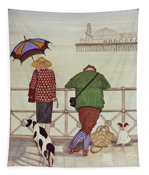Brighton Pier, 1986 Watercolour On Paper Tapestry
