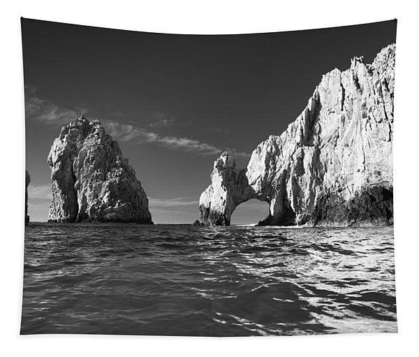Cabo In Black And White Tapestry