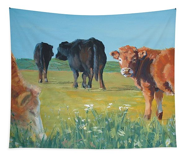 Calf Painting Tapestry