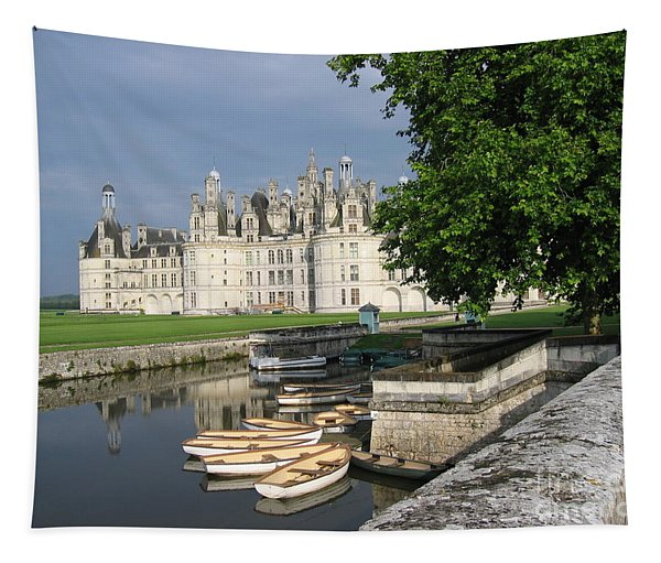 Chateau Chambord Boating Tapestry
