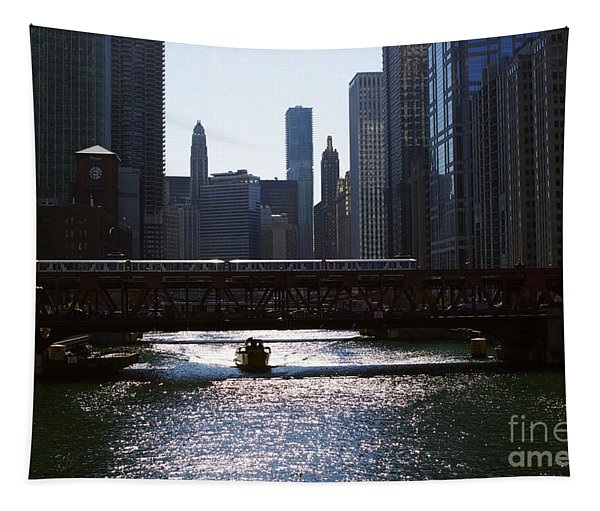 Chicago Morning Commute Tapestry