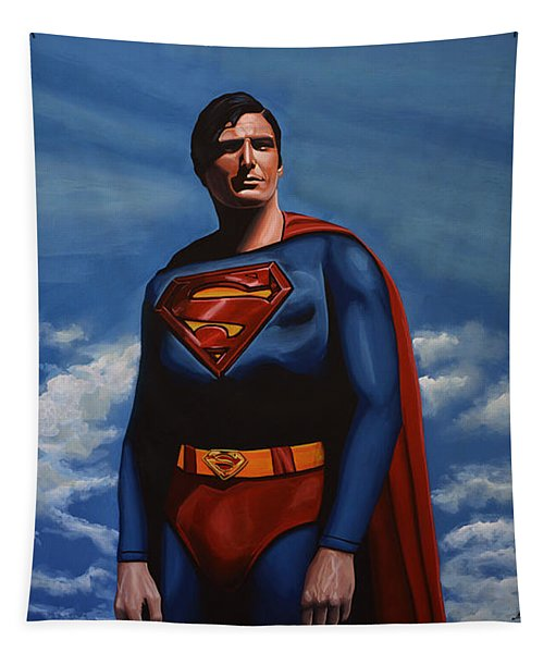 Christopher Reeve As Superman Tapestry