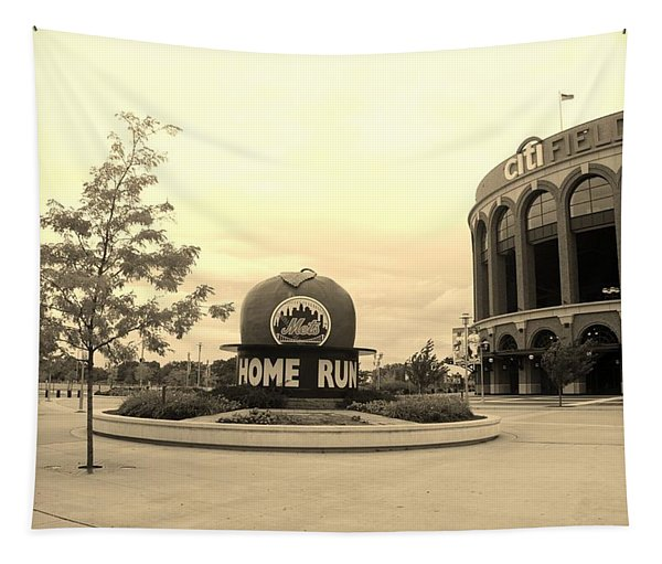 Citi Field In Sepia Tapestry