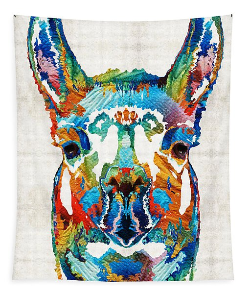Colorful Llama Art - The Prince - By Sharon Cummings Tapestry