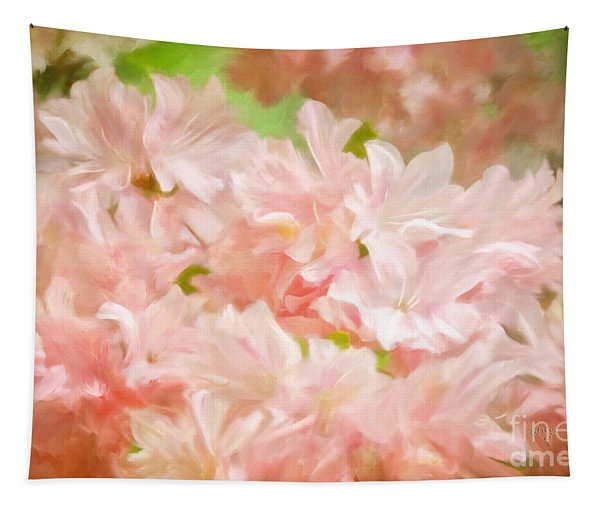 Cotton Candy Pink Azaleas Tapestry