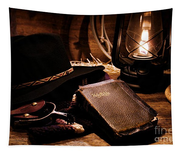 Cowboy Bible Tapestry