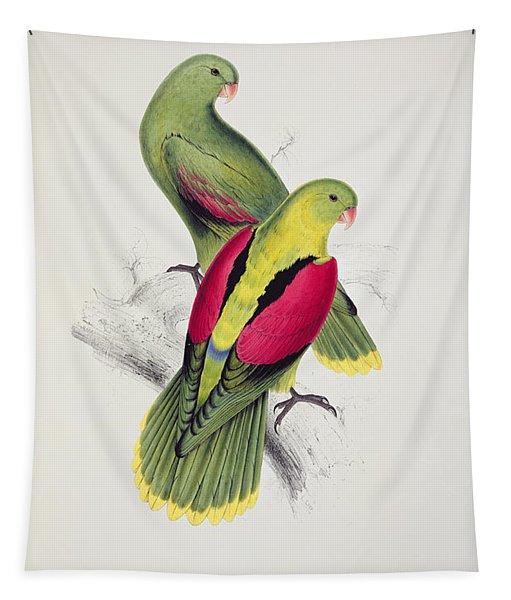 Crimson Winged Parakeet Tapestry