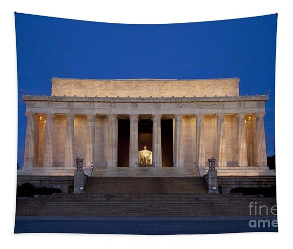 Dawn At Lincoln Memorial Tapestry