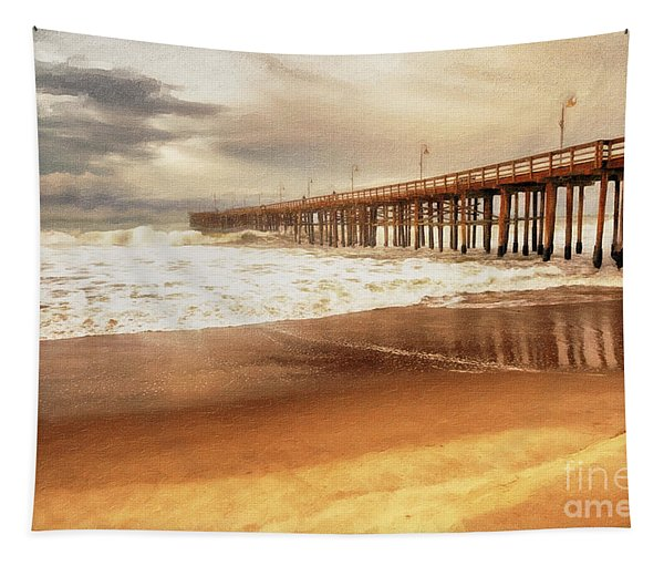Day At The Pier Large Canvas Art, Canvas Print, Large Art, Large Wall Decor, Home Decor, Photograph Tapestry