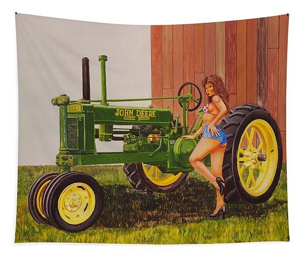 1938 Model B John Deere Tapestry