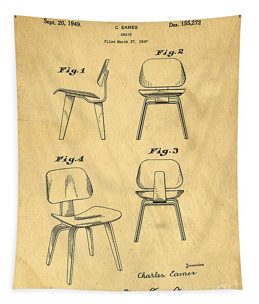 Designs For A Eames Chair Tapestry